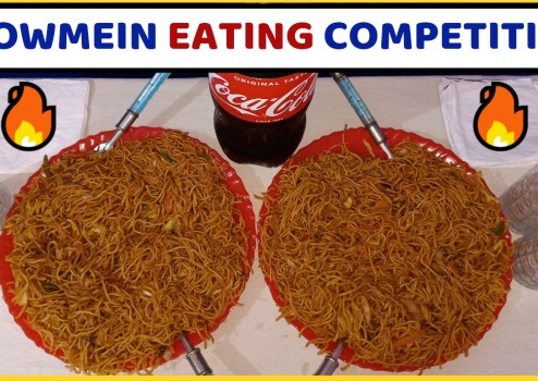 Chow mein Eating Challenge