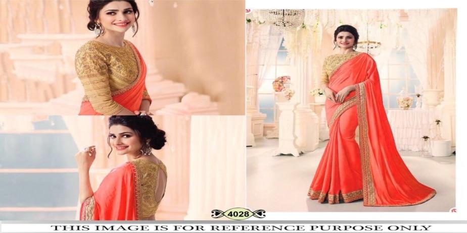 Srk-Orange-Color-Chinnon-Silk-Plain-Saree
