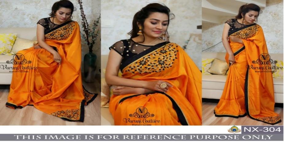 Srk-Orange-Color-Paper-Silk-Embroidered-Sarees