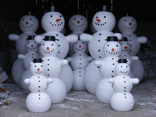Sněhulák kulisy dekorace polystyren vánoční výzdoba výroba, sněhulák polystyren výroba dekorace makety reklamní kulisy, polystyrene, schneemann produktion, polystyrene, Bühnenbildner, styropor,