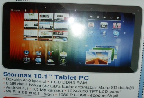 stormax tablet pc bim 15 şubat