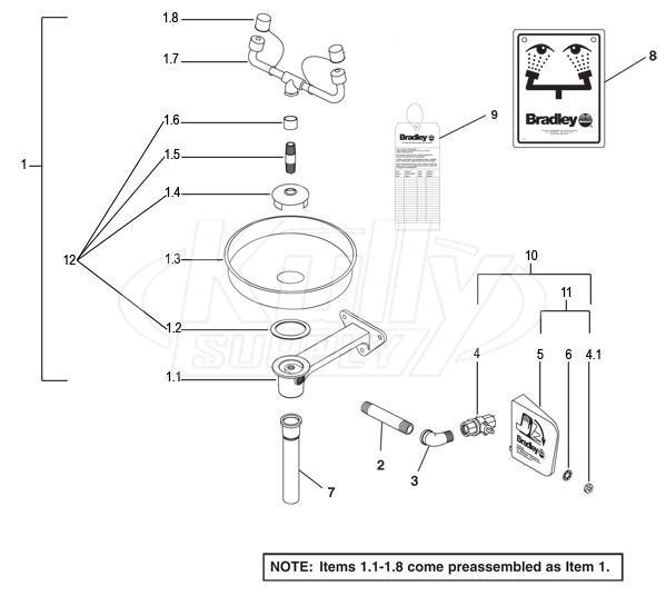 bradley s19 220b parts breakdown