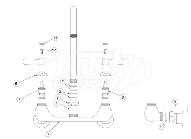 zurn z842 gooseneck faucet parts breakdown