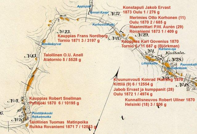 Ruikanmutkasta Kultalaan Ivalojoki 2 1870.