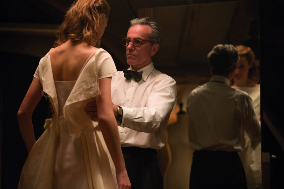 "Vicky Krieps stars as ""Alma"" and Daniel Day-Lewis stars as ""Reynolds Woodcock"" in writer/director Paul Thomas Anderson's PHANTOM THREAD, a Focus Features release. Credit : Laurie Sparham / Focus Features"