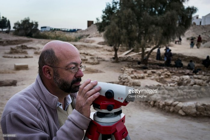 AIN SUKHNA, EGYPT - January 29: Pierre Tallet stands among the excavation site January 29 2015, in Ain Sukhna. (David Degner/Getty Images)