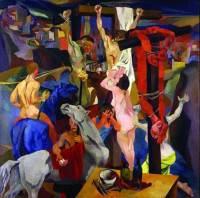 Particolare della Crocifissione di Renato Guttuso (1940-41), Galleria Nazionale d'Arte Moderna e Contemporanea