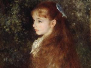 Pierre-Auguste Renoir, Mademoiselle Irène Cahen d'Anvers (La piccola Irene), 1880, olio su tela, 65x54 cm. Stiftung Sammlung E.G. Bührle, Zurigo