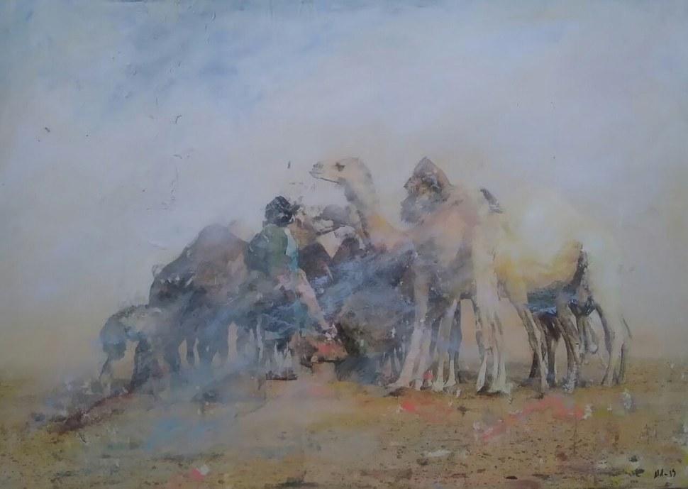 Khamar Sahararen aldeko taldearen erakusketa