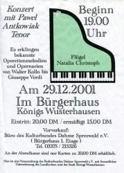 Konzert mit Pawel Antkowiak - Tenor