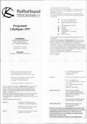 Kulturbundprogramm 1997, zweites Halbjahr