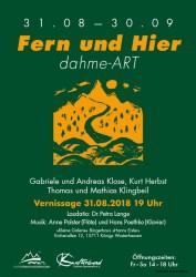 """Werkausstellung """"FERN und HIER - dahme-ART."""""""