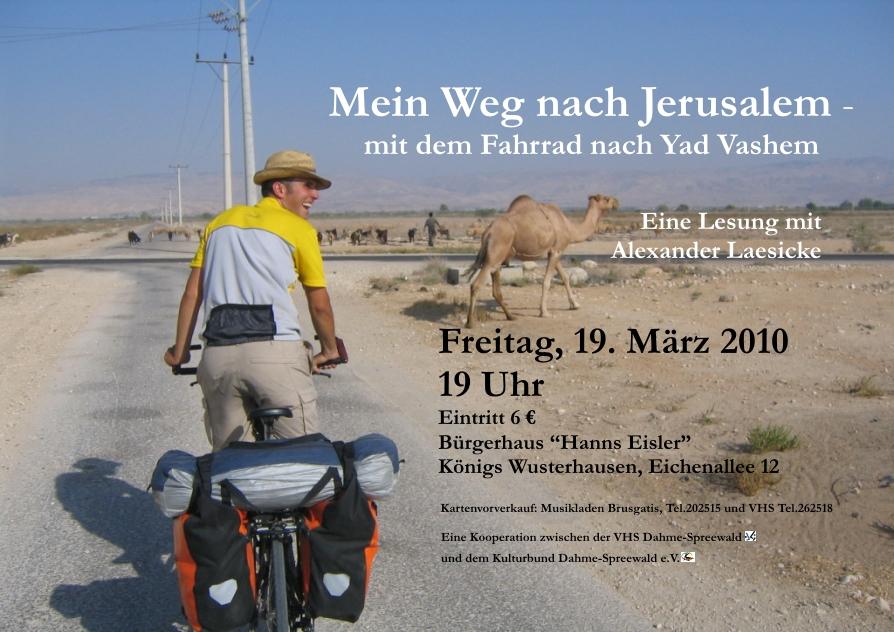 Mein Weg nach Jerusalem