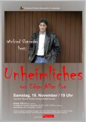 """Winfried Glatzeder liest """"Unheimliches"""""""