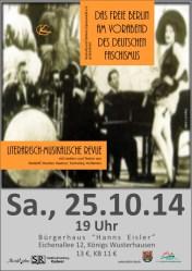 Das freie Berlin am Vorabend des deutschen Faschismus