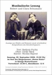 Musikalische Lesung - Robert und Clara Schumann