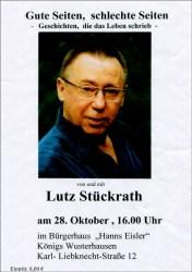"""Lutz Stückrath - """"Gute Seiten, schlechte Seiten"""""""