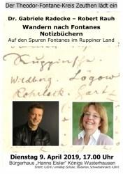 Wandern nach Fontanes Notizbüchern
