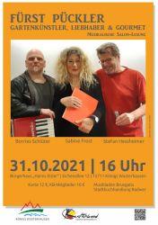 """Salon-Lesung """"Fürst Pückler - Gartenkünstler, Liebhaber & Gourmet"""""""