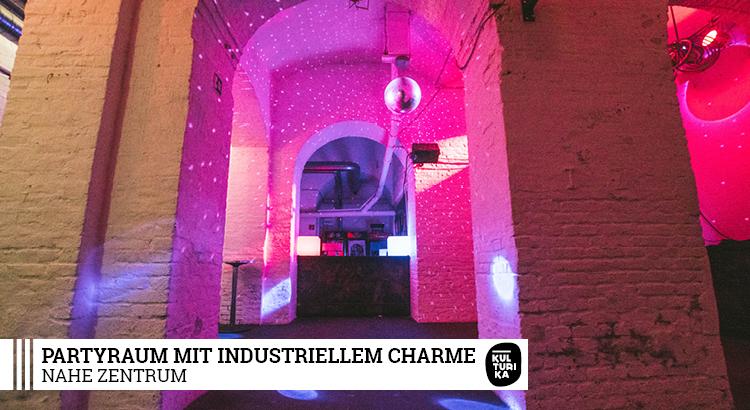 Partyraum mit industriellem Charme Köln