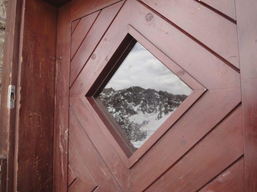 Tür zur Hochstubaihütte
