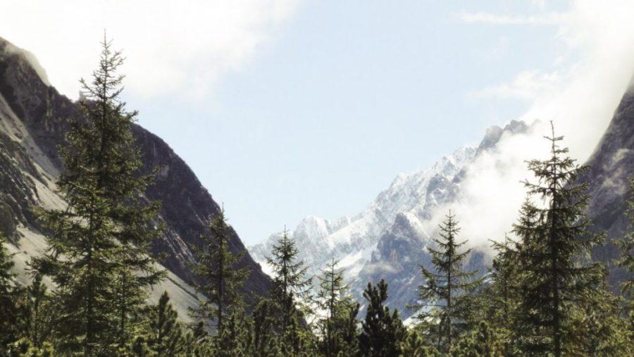 Blick nach oben - Karwendelgipfel