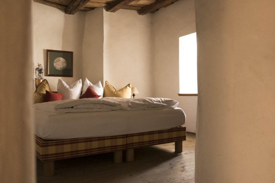 Schlafzimmer in der Turmsuite