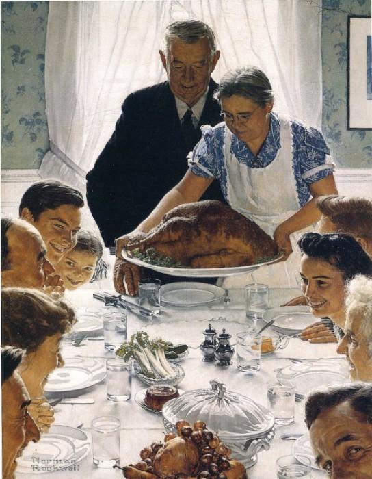 Семейный ужин. Автор: Norman Rockwell.