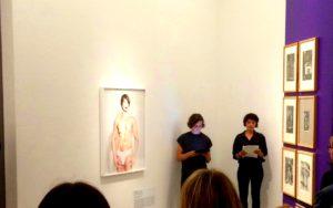 Hannah Zipfel und Norma L. Werbeck beim Release von 'Ein Heft' im LWL: Homage to Benglis