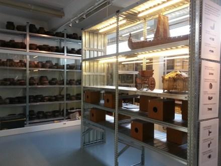 Schauarchiv im Archäologischen Museum Hamburg