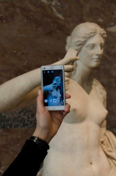 Macht die Skulptur tatsächlich ein Selfie von sich?