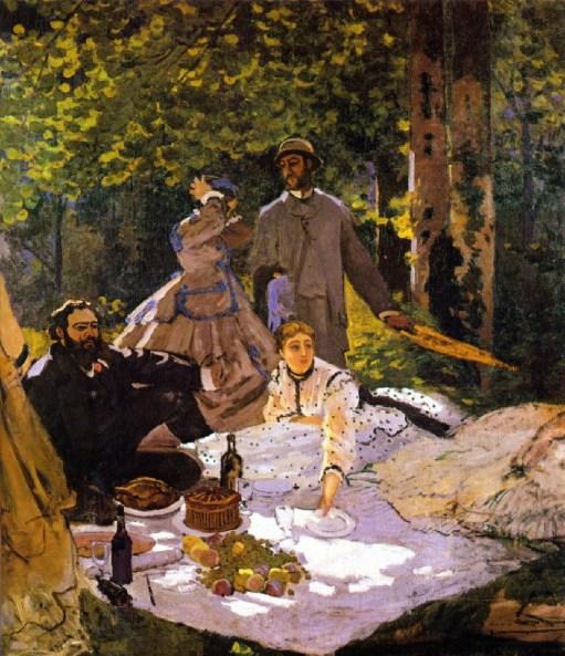 Das Frühstück im Grünen, mittleres Fragment, 1865/1866, Musée d'Orsay in Paris