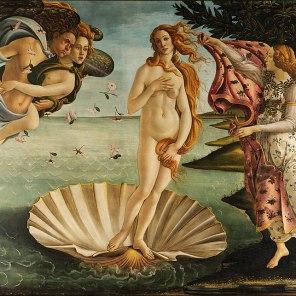 The Birth of Venus. Sandro Botticelli, 1485, Uffizi Gallery