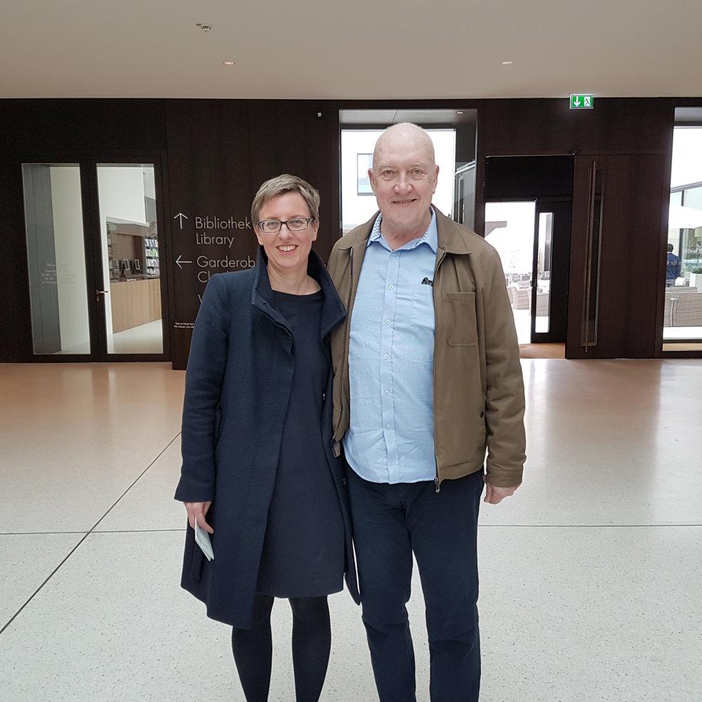 Dr. Tanja Pirsig-Marshall und Sean Scully im LWL-Museum für Kunst und Kultur