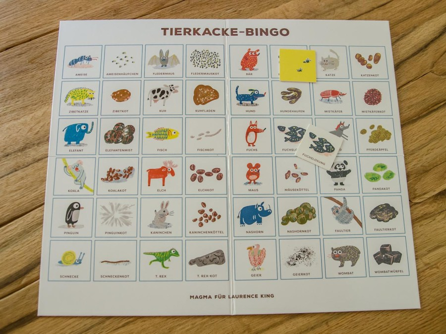 Tierkacke Bingo