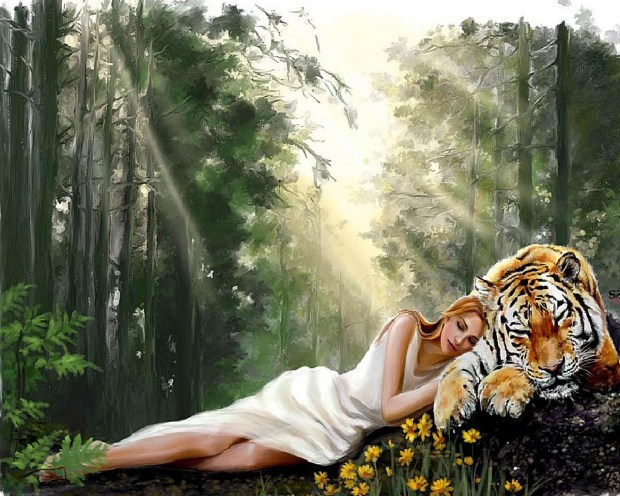 woman_with_tiger