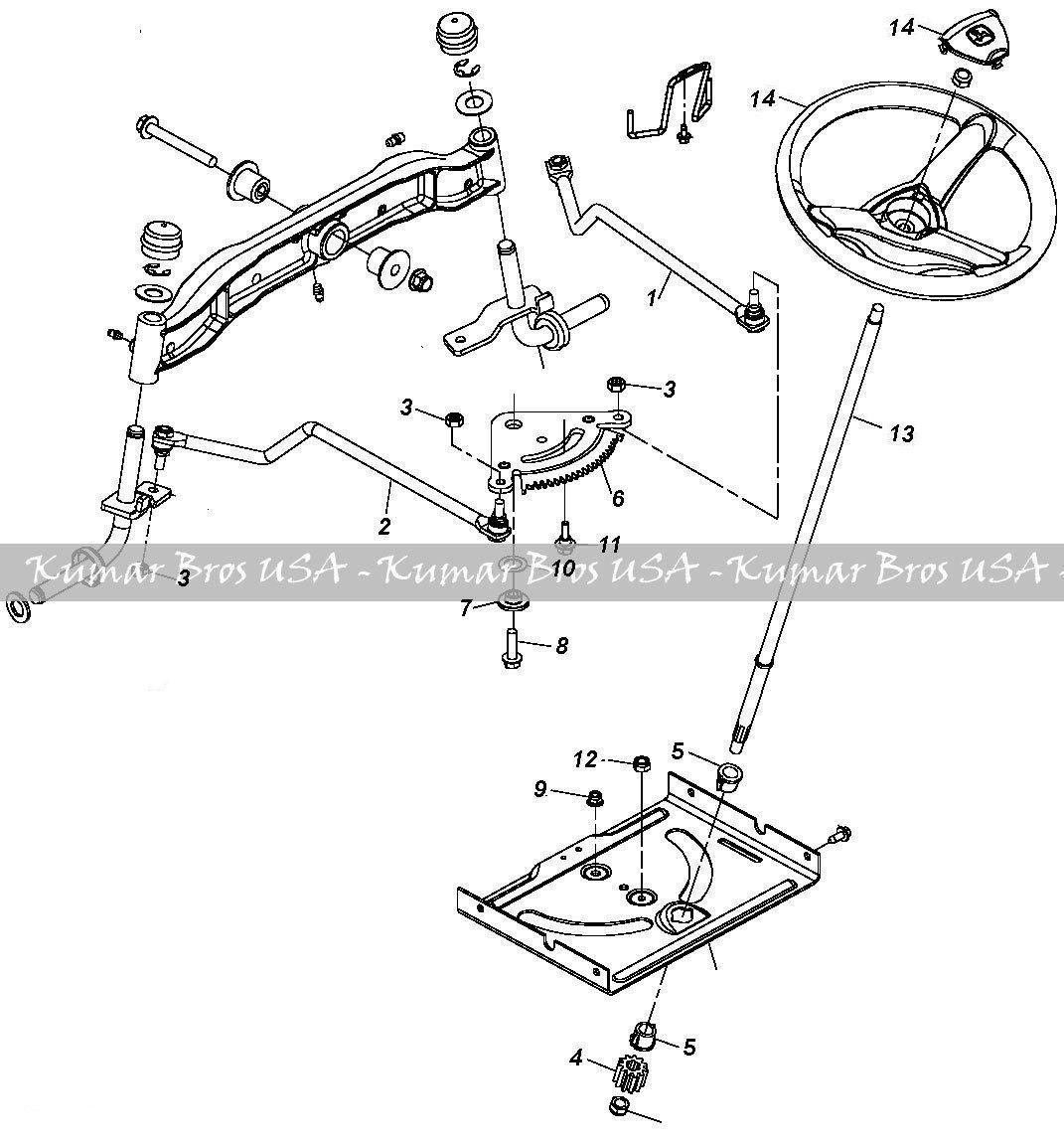 New Kumar Bros Usa Steering Kit Shaft Amp Wheel Fits John