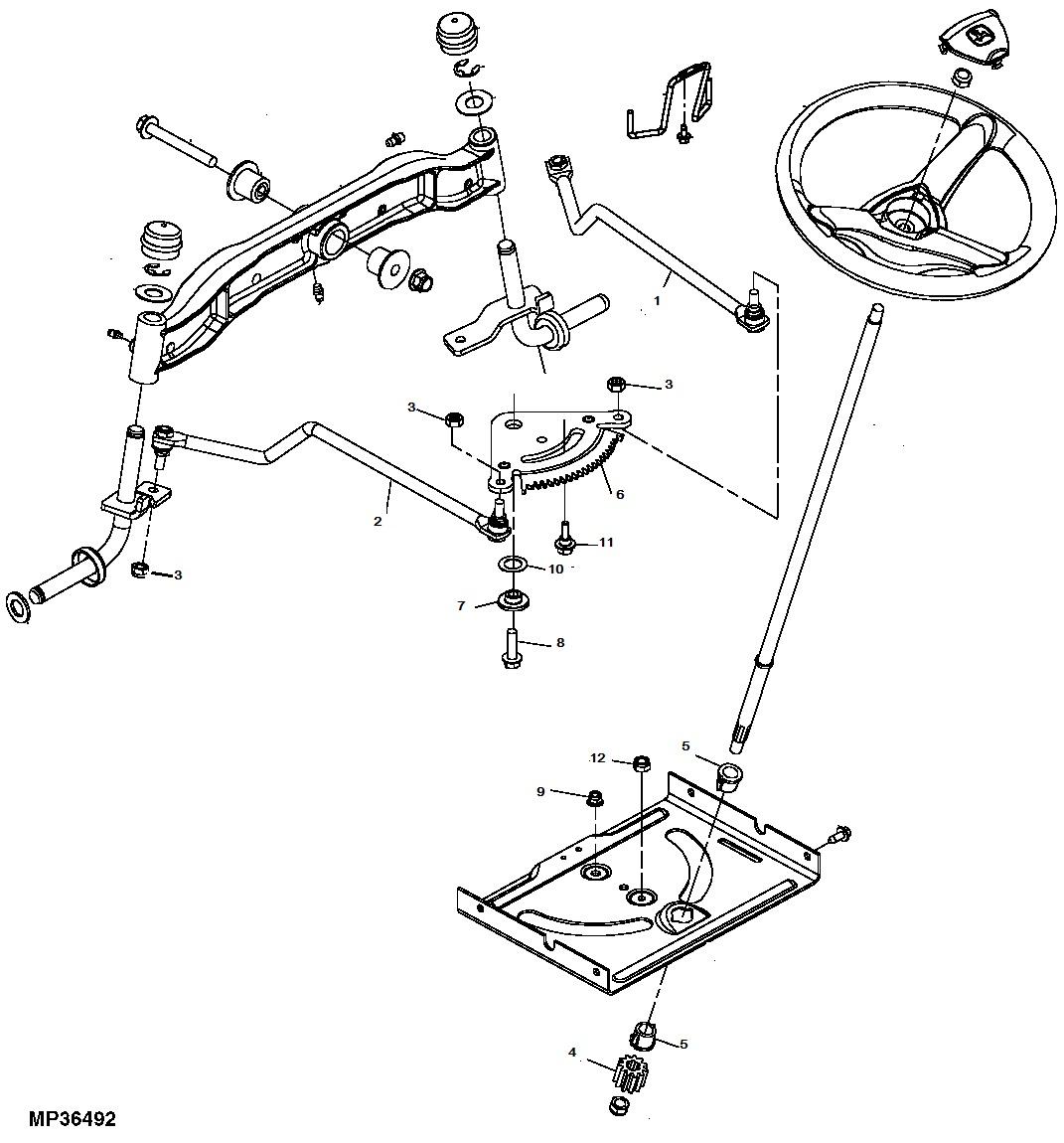 new kumar bros usa tractor steering kit fits john deere la100 la105 la110  la120 la125 la130