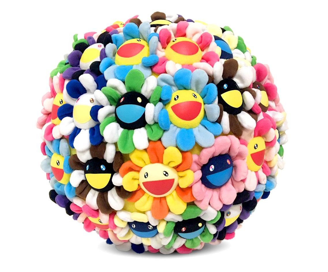 Takashi Murakami Plush Flowerball 400mm | Kumi Contemporary