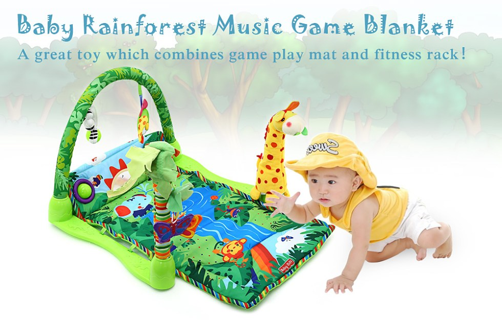 Rainforest Music Baby Play Soft Mat Activity Play Gym Toy