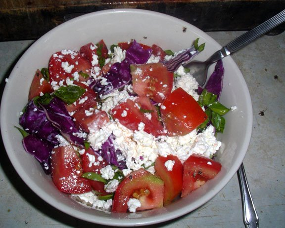 Superior Salad With Fresh Cottage Cheese.
