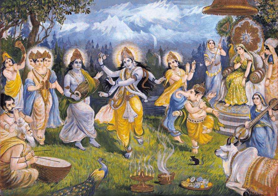 la danza di gioia del Dio Shiva