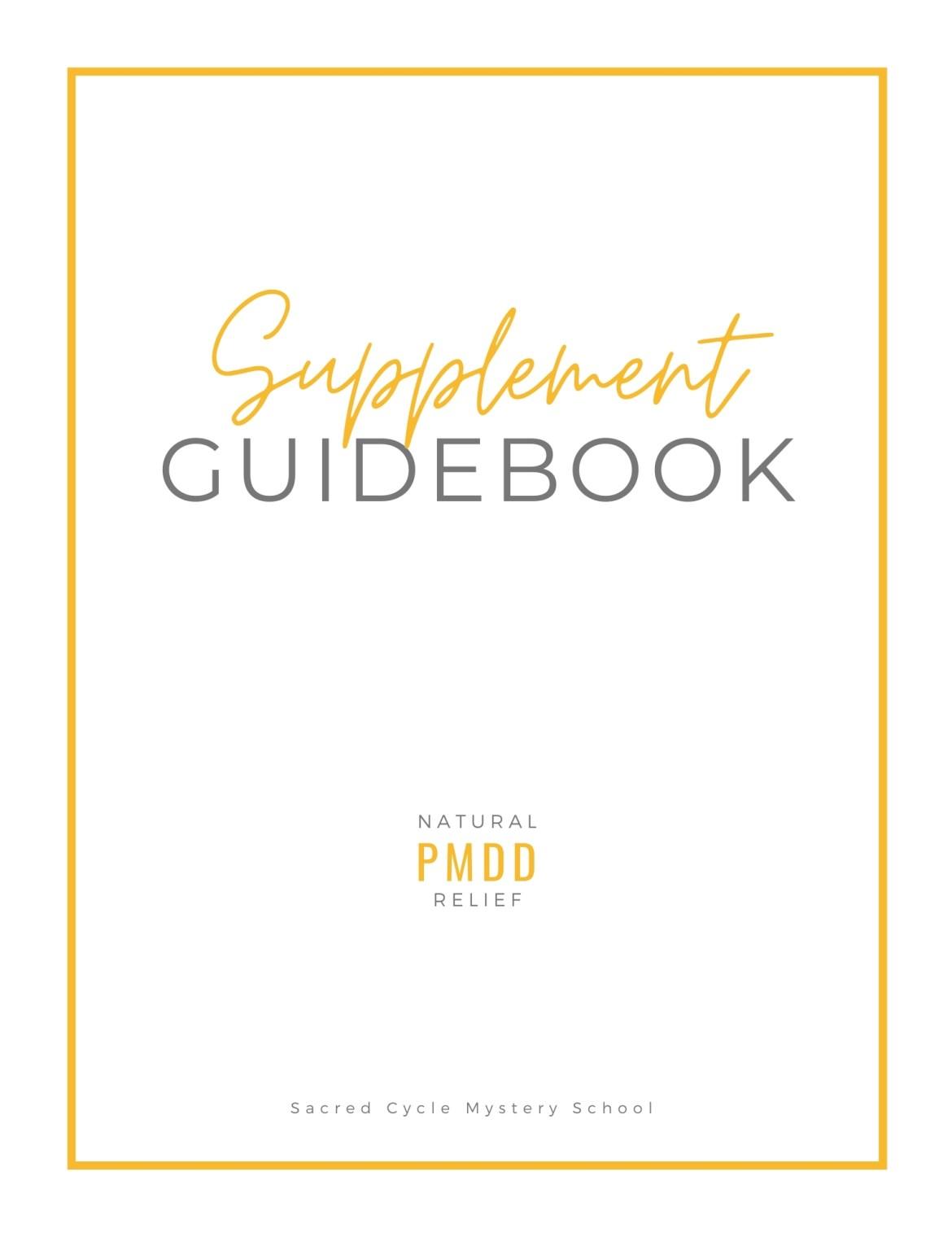 PMDD Relief Supplement Guide