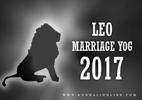 Leo Marriage Horoscope 2017