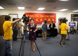 Press conference at Kung Fu Tai Chi magazine headquarters.