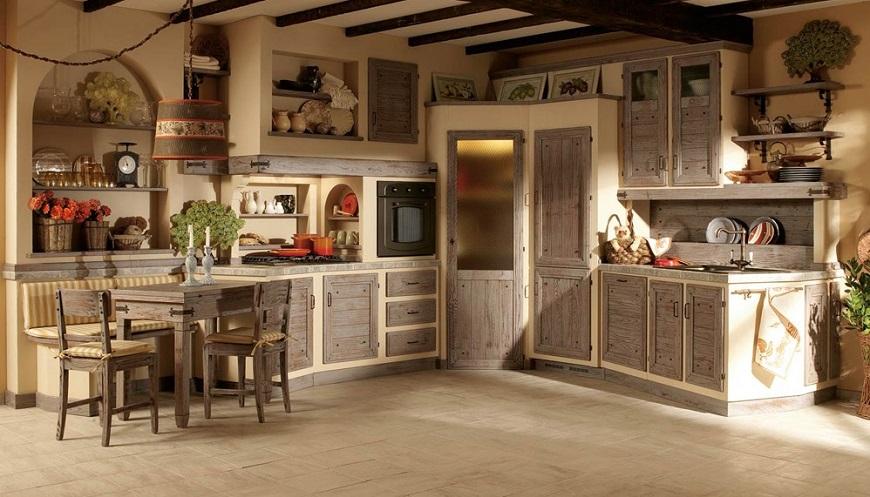 Le cucine in stile provenzale si esprimono con grande eleganza,. Cucine Roma In Stile Country