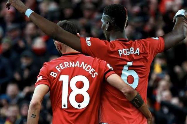 Fernandes and Pogba before Van de Beek