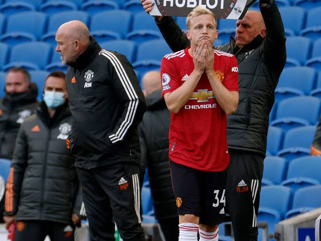 Van de Beek at Manchester United