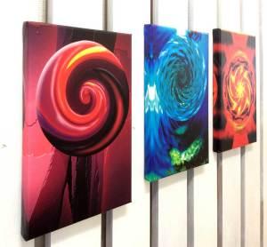 Kinetic Mandalas im Atelier in Kempten