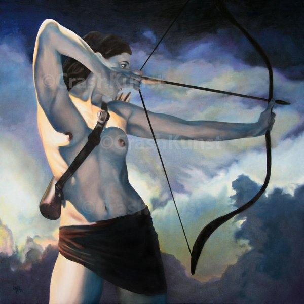 Krieger Frau mit Pfeil und Bogen